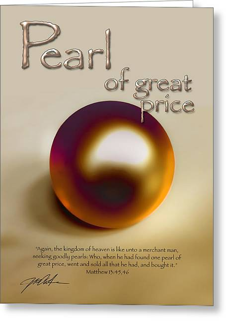 Parable Greeting Cards - Pearl of Great Price Greeting Card by Ron Cantrell