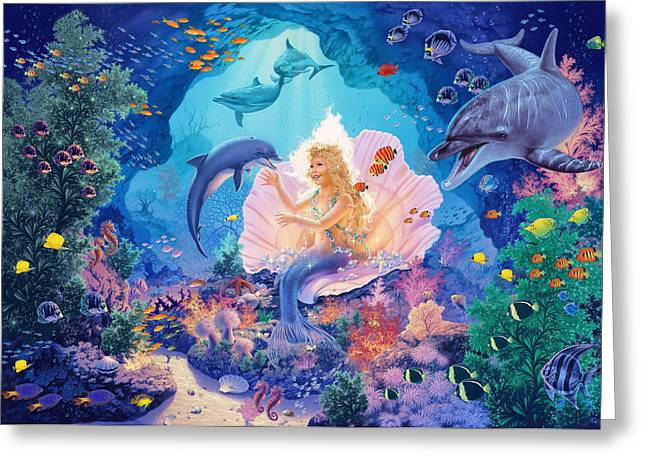 Magical Greeting Cards - Pearl Princess Variant1 Greeting Card by Steve Read