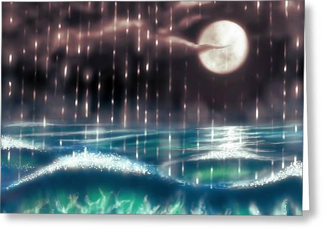 Mayur Sharma Greeting Cards - Pearl Rain @ precious pearl ocean Greeting Card by Mayur Sharma