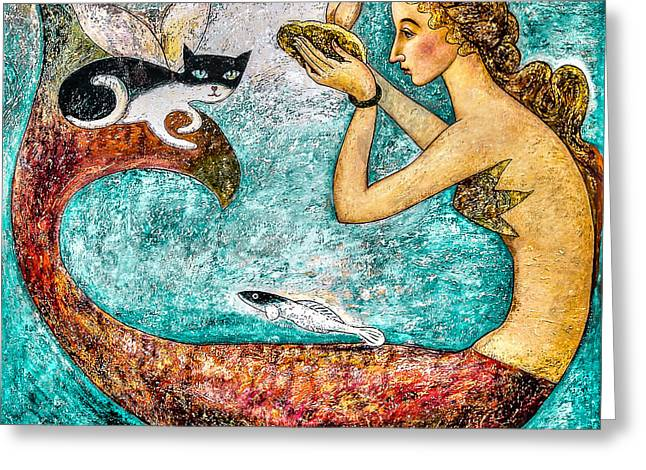 Oysters Greeting Cards - Pearl Greeting Card by Shijun Munns