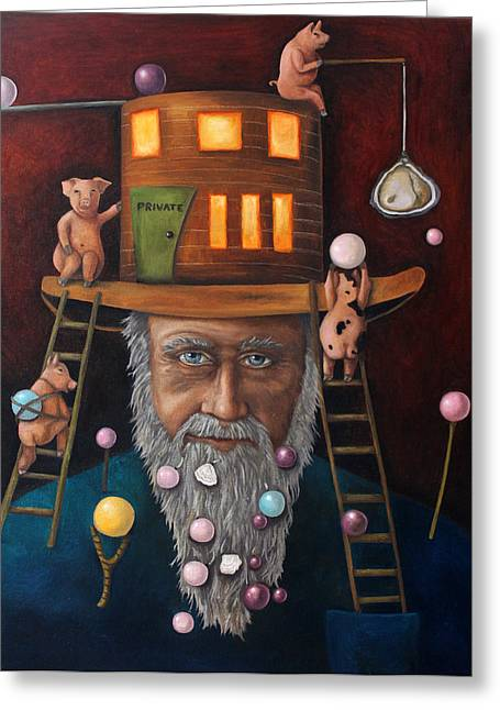 Pearls For Swine Edit 2 Greeting Card by Leah Saulnier The Painting Maniac