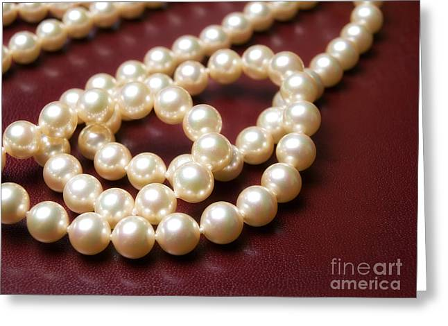Jewellery Greeting Cards - Pearls Greeting Card by Sinisa Botas