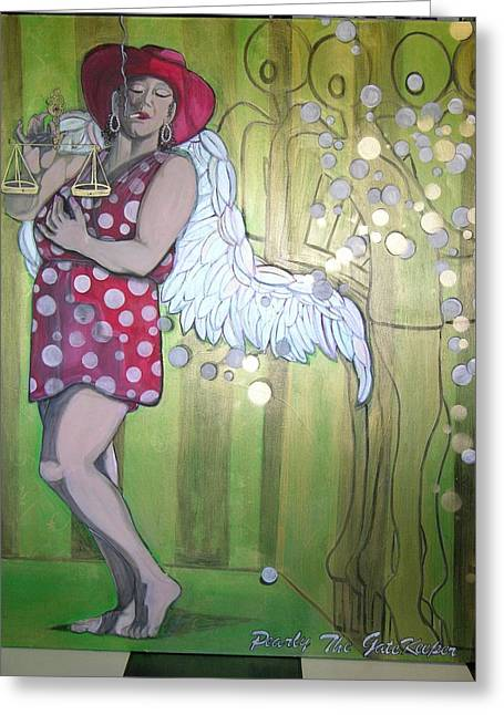 Angels Smoking Greeting Cards - Pearly Greeting Card by Darlene Graeser
