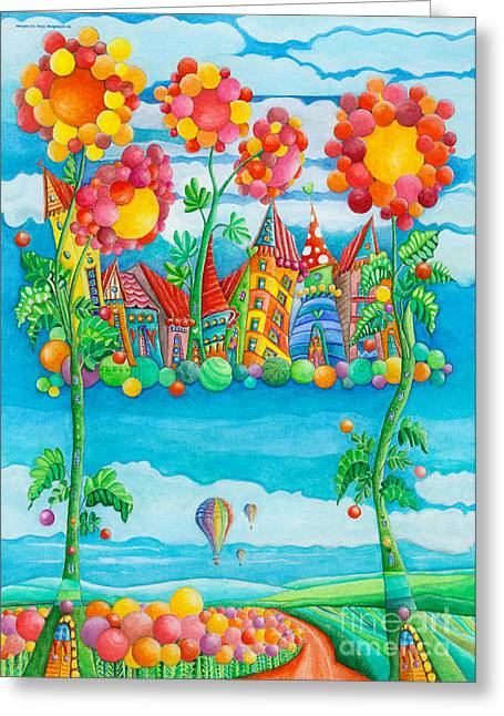 Pearly Gates Greeting Cards - Pearly Gate Greeting Card by Sonja Mengkowski