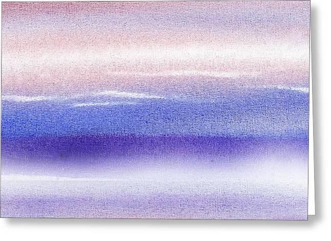 Pearly Sky Abstract I Greeting Card by Irina Sztukowski