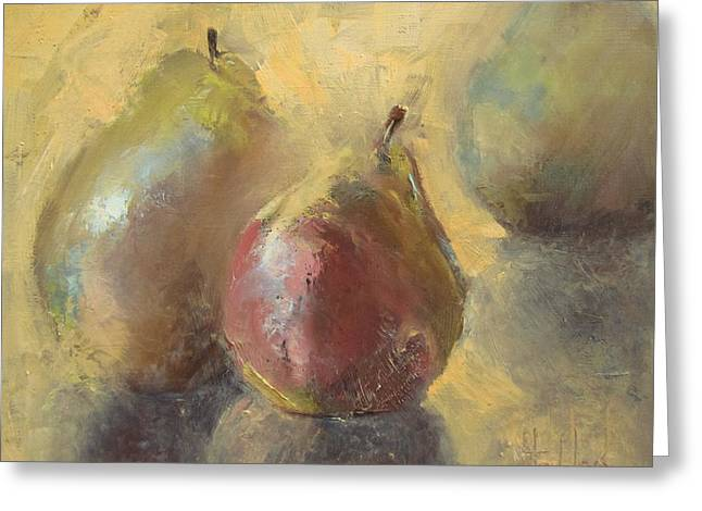 Pear Tree Paintings Greeting Cards - Pearly There Greeting Card by Barbara Andolsek