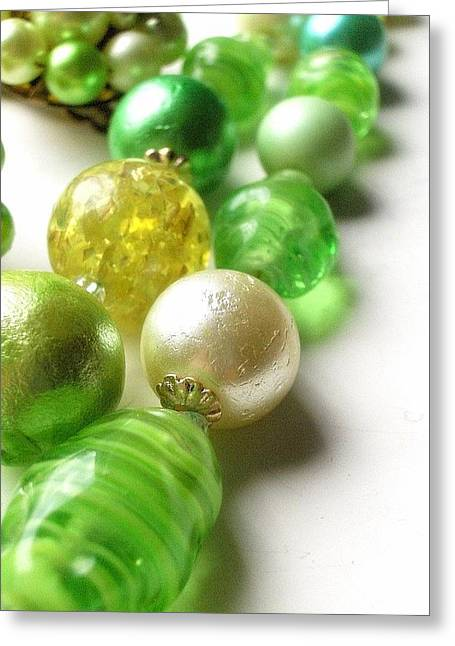 Diamond Bracelet Photographs Greeting Cards - Pearly White Greeting Card by Natalie Hawkins