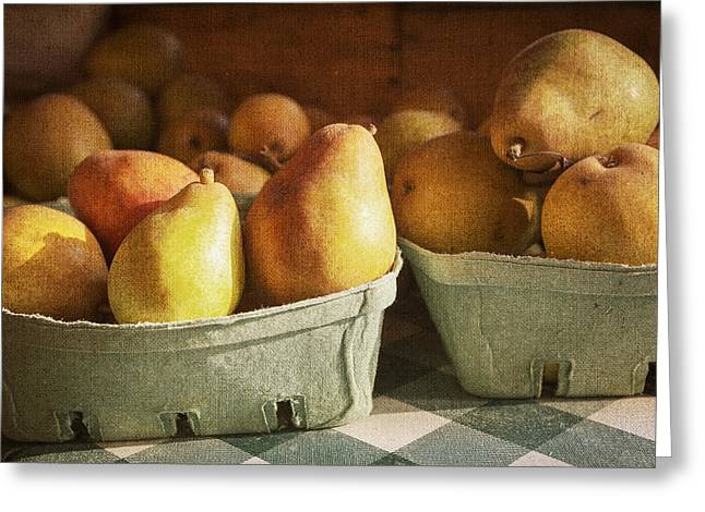Farmstand Digital Art Greeting Cards - Pears Greeting Card by Caitlyn  Grasso