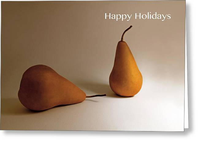 Happy Holidays Greeting Cards - Pears Greeting Card by Don Spenner