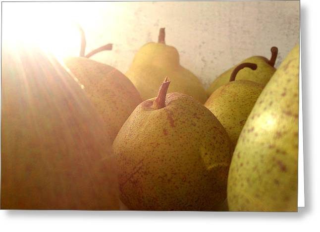 Lucy D Greeting Cards - Pears Greeting Card by Lucy D