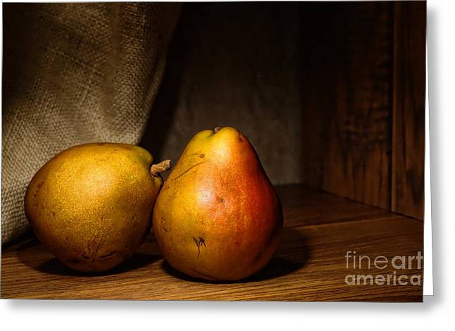 Pears Photographs Greeting Cards - Pears Greeting Card by Olivier Le Queinec