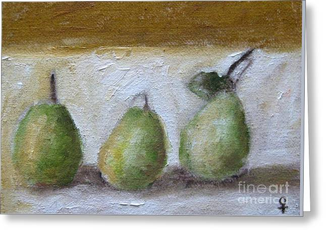 Fruit Tree Art Giclee Greeting Cards - Pears Greeting Card by Venus