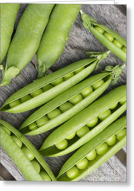 Veggie Greeting Cards - Peas and Pods Greeting Card by Tim Gainey