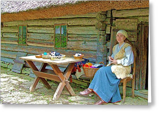 Felting Greeting Cards - Peasant Felting in Rocca Al Mare Open Air Museum-Estonia Greeting Card by Ruth Hager