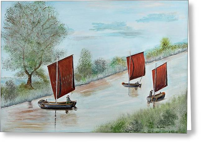 Peat Greeting Cards - Peat ship Greeting Card by Manfred Lutzius