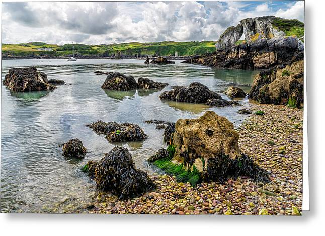 Anglesey Greeting Cards - Pebble Bay Greeting Card by Adrian Evans