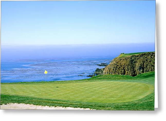 Pebble Beach Golf Course, Pebble Beach Greeting Card by Panoramic Images