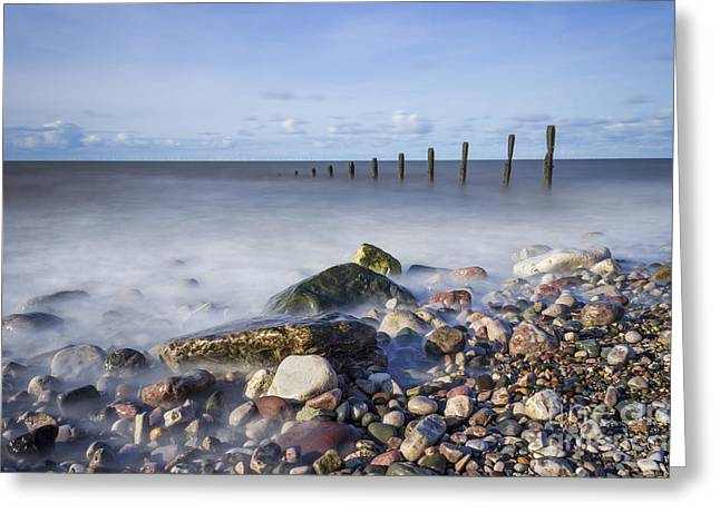 Wales Framed Prints Greeting Cards - Pebble Beach Greeting Card by Ian Mitchell