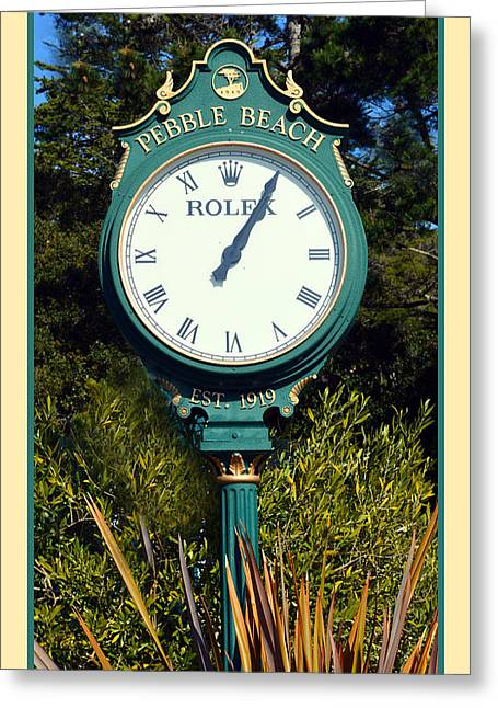 Central Coast Of California Greeting Cards - Pebble Beach Rolex Greeting Card by Barbara Snyder