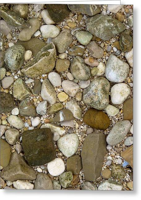 Beach Stones Greeting Cards - Pebble Photography Greeting Card by Rachel Stribbling