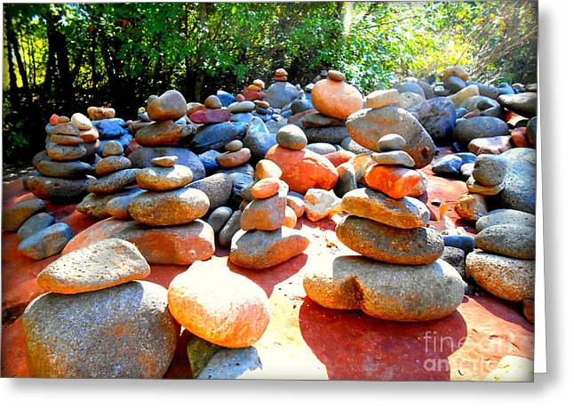 Red Rock Crossing Greeting Cards - Pebbles and Rocks Greeting Card by R Dupras