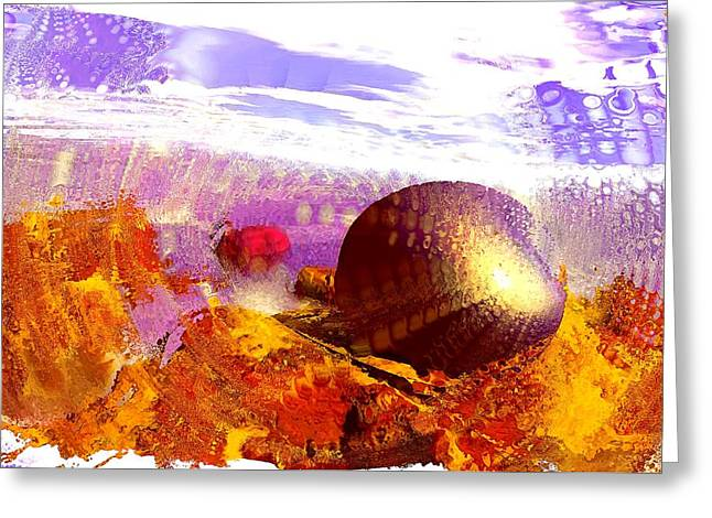 Distortion Mixed Media Greeting Cards - Pebbles on a Beach Greeting Card by Anastasiya Malakhova