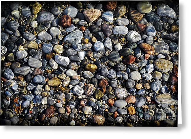 Pebbles Greeting Cards - Pebbles under water Greeting Card by Elena Elisseeva