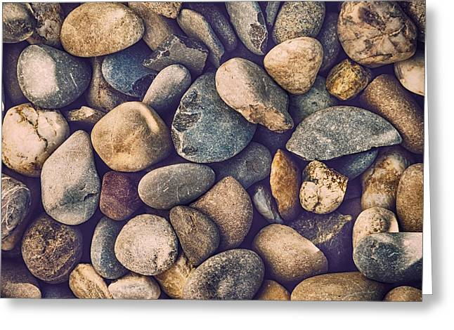 Filter Art Greeting Cards - Pebbles Greeting Card by Wim Lanclus