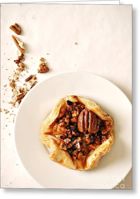 Culinary Greeting Cards - Pecan Pastry Greeting Card by HD Connelly