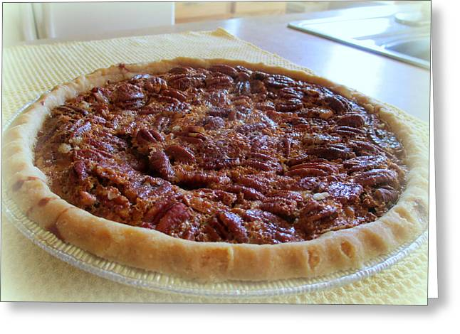 Bakery Poster Greeting Cards - Pecan Pie Greeting Card by Kay Novy