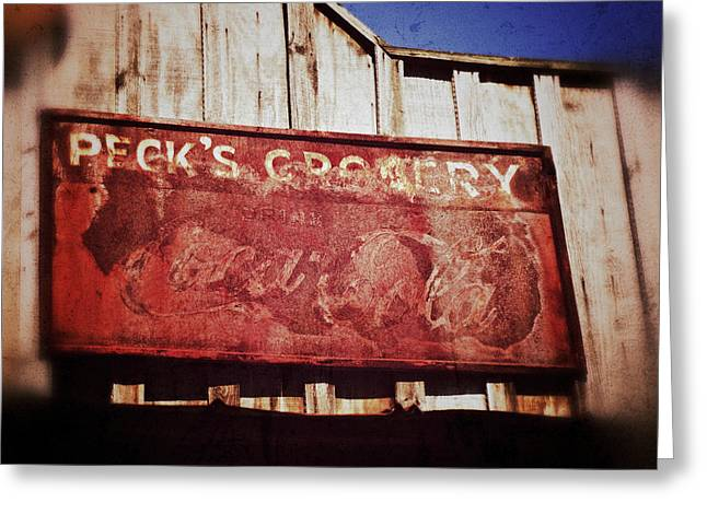 Grocer Greeting Cards - Pecks Greeting Card by Brandon Addis