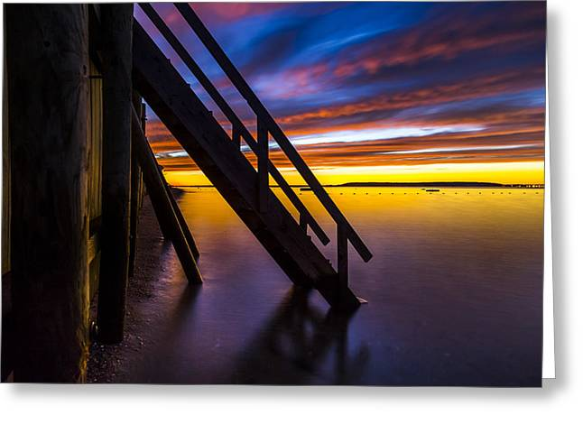 Southampton Greeting Cards - Peconic Bay at Dusk Greeting Card by Ryan Moore