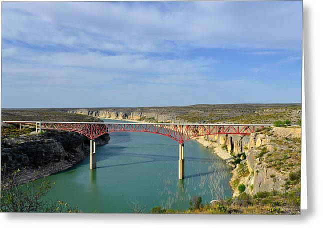 Pecos River High Bridge Greeting Card by Christine Till