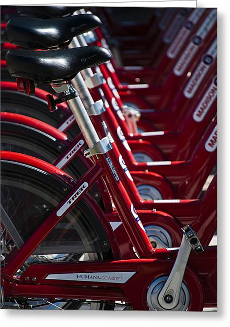 Efficient Greeting Cards - Pedal Power Greeting Card by Christi Kraft
