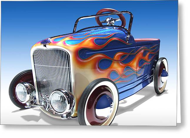Hot Greeting Cards - Peddle Car Greeting Card by Mike McGlothlen