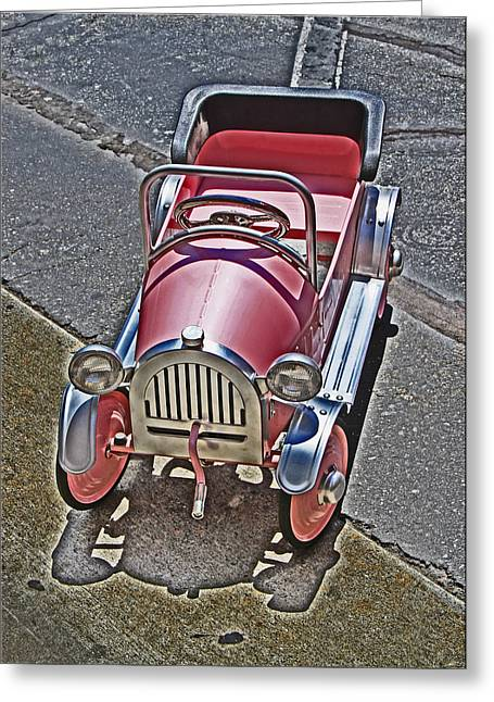 Peddle Car Greeting Cards - Peddle To A Tee Greeting Card by Chet King