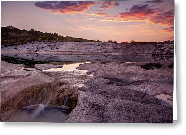 The Hills Greeting Cards - Pedernales Falls 001 Greeting Card by Paul Huchton