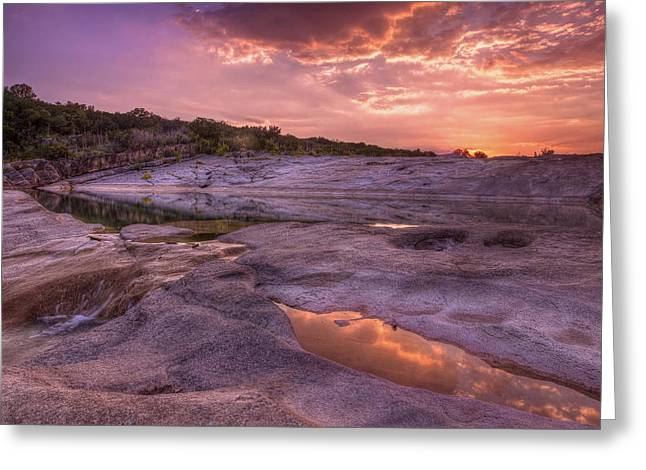 The Hills Greeting Cards - Pedernales Falls 003 Greeting Card by Paul Huchton