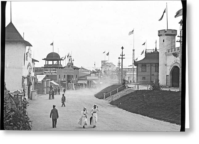 Nashville Tennessee Greeting Cards - Pedestrian Avenue Tennessee Centennial Exposition 1897 Greeting Card by A Gurmankin