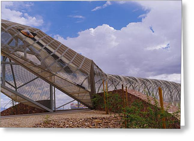 River Road Greeting Cards - Pedestrian Bridge Over A River, Snake Greeting Card by Panoramic Images