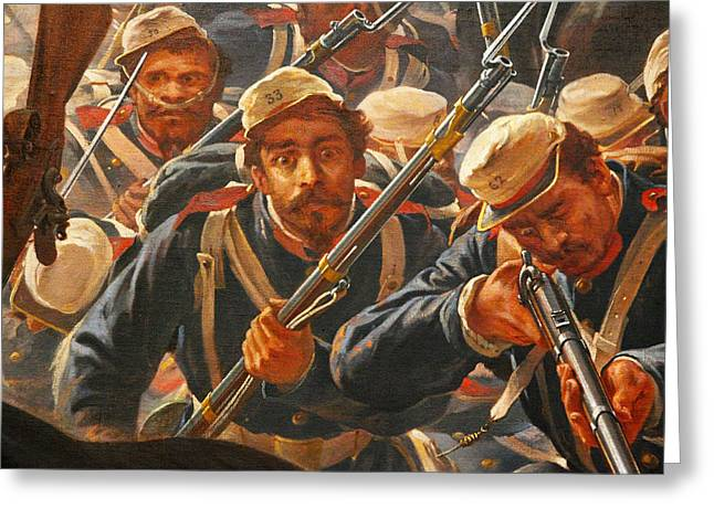 """battle Field"" Greeting Cards - Pedro Americo Self Protriat Greeting Card by Pedro Americo"