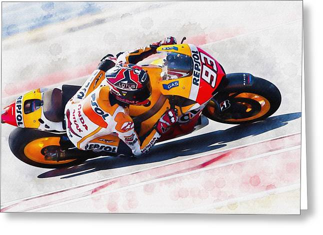 Roberto Greeting Cards - Pedrosa Greeting Card by Don Kuing