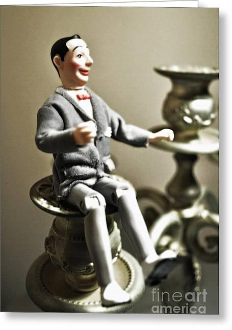 Comedian Greeting Cards - Pee-wee Herman Greeting Card by Gwyn Newcombe