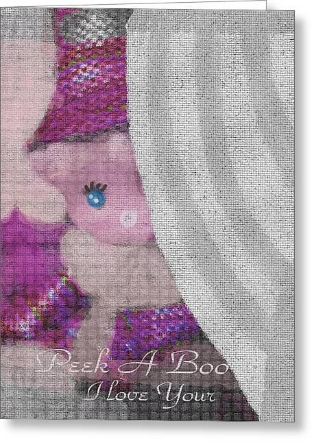 Greeting Cards - Peek A Boo I Love You Greeting Card by Sherri  Of Palm Springs