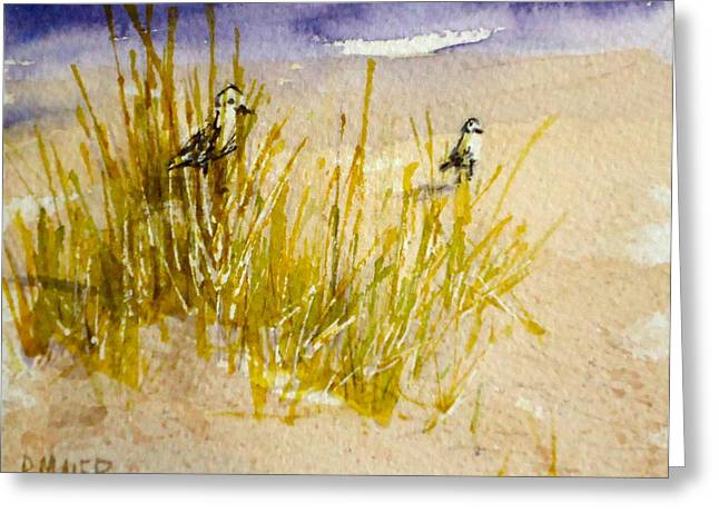 Ocean Shore Drawings Greeting Cards - Peek a Boo Greeting Card by Pete Maier