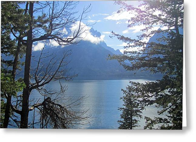 Teton Greeting Cards - Peek-a-lake 2 Greeting Card by Mike Podhorzer