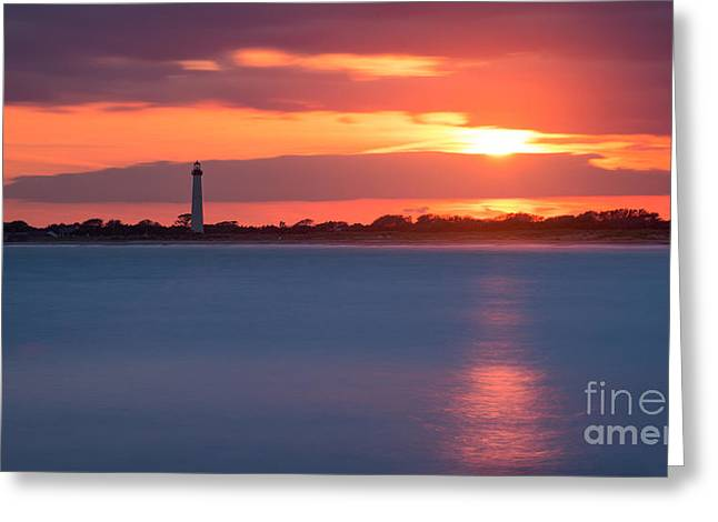 Jerseyshore Greeting Cards - Peeking Through The Clouds Greeting Card by Michael Ver Sprill