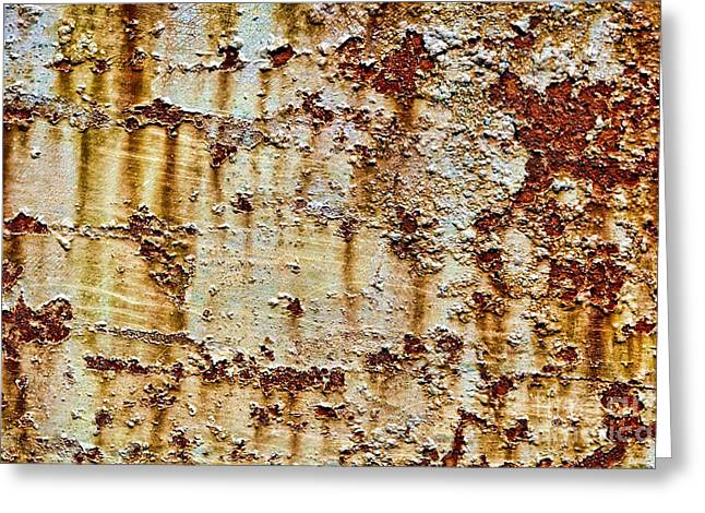 Industrial Background Greeting Cards - Peeling  Greeting Card by Olivier Le Queinec