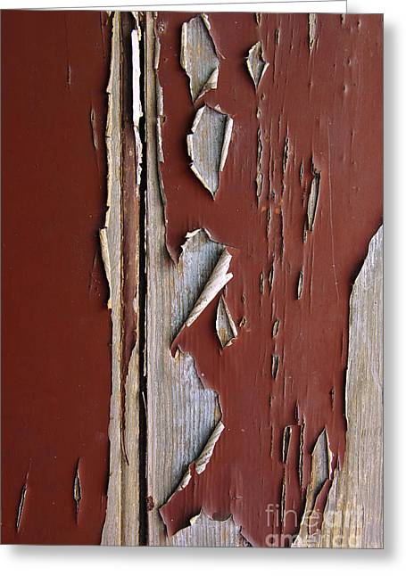 Crisp Greeting Cards - Peeling Paint Greeting Card by Carlos Caetano