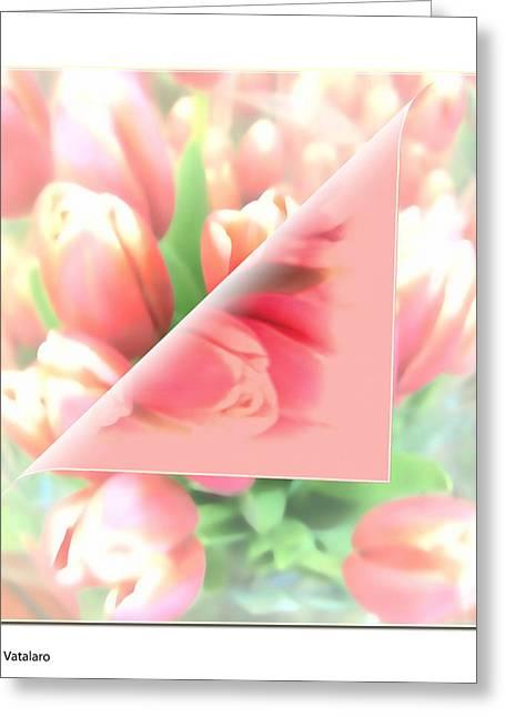 Stimulating Colored Flower Greeting Cards - Peels Of Spring Greeting Card by Debra     Vatalaro